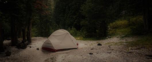 tent in rain